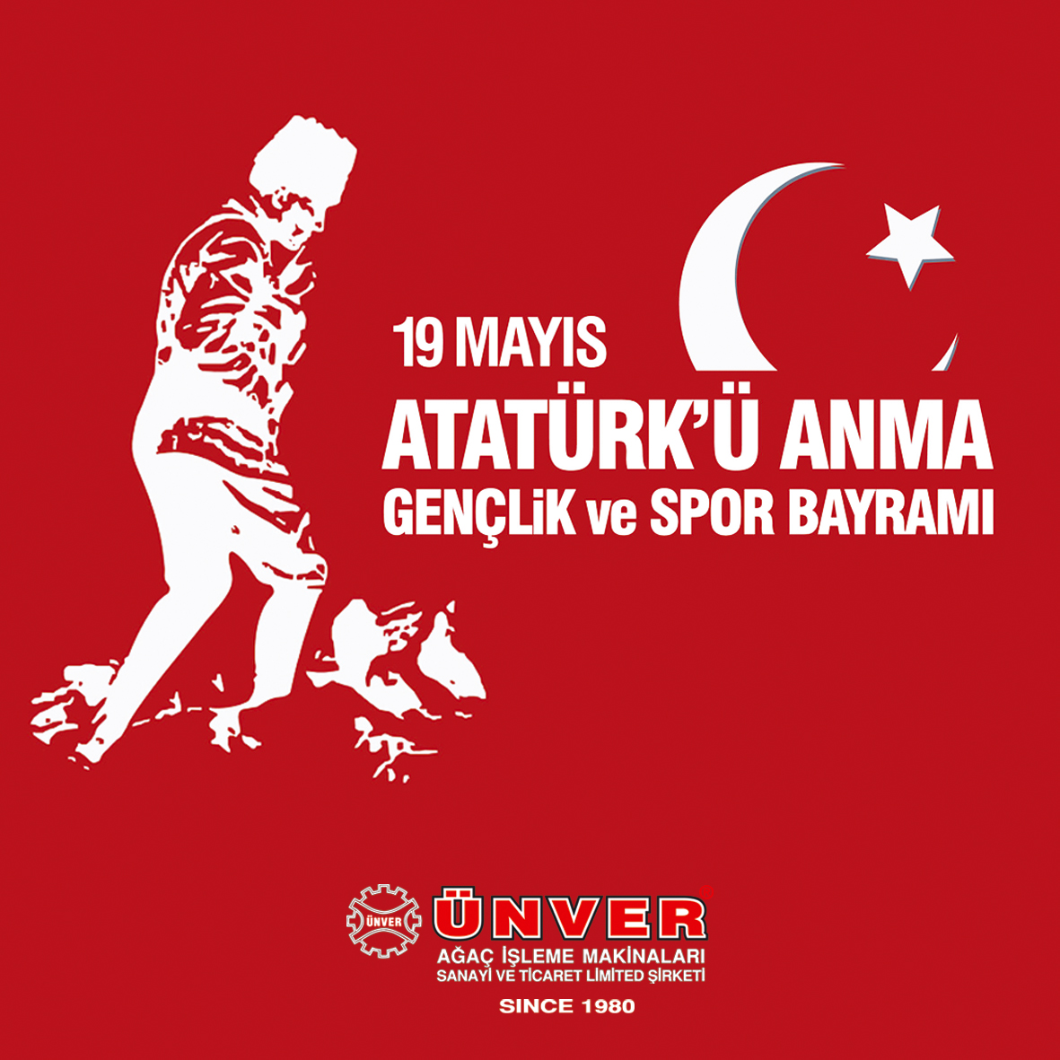 99776418 - may 19th, ataturk memorial youth and sports festival banner.